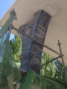 REFUERZO WRAP CARBONO EN PILAR TUDELA-VEGUIN